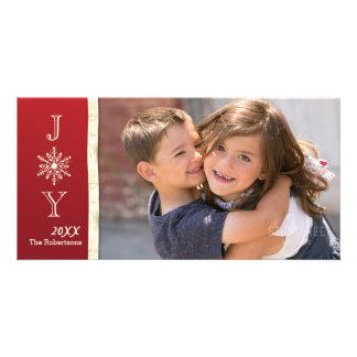 Freude-Schneeflocke-Foto-Weihnachtskarte Karte