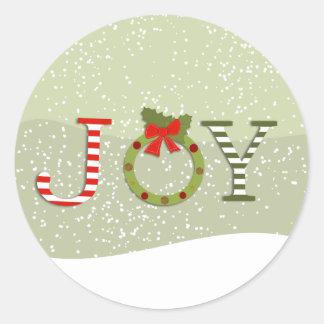 Freude-Weihnachten Runder Aufkleber