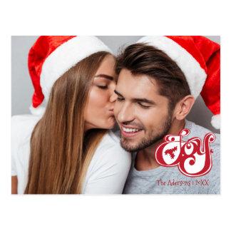 Freude-Weihnachtsfeiertags-Foto-Postkarte Postkarte