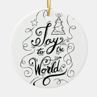 """Freude zu den Welt"" - Weihnachtsgeschenken Keramik Ornament"