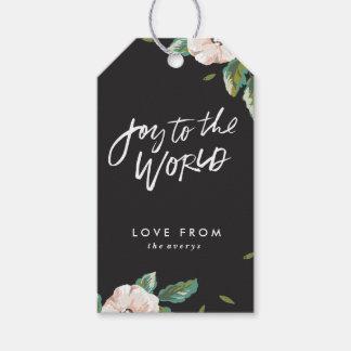 Freude zu den Weltblumengeschenk-Umbauten - Geschenkanhänger