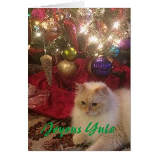 Freudiges Weihnachten Grußkarte