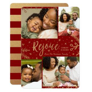 Freuen Sie sich der   Collagen-Weihnachtskarten-  Karte
