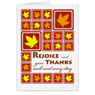 Freuen Sie sich, geben Sie Dank, religiösen Karte