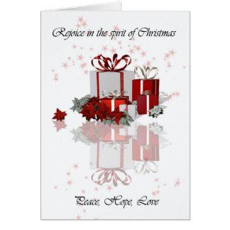Freuen Sie sich im Geist von Weihnachten, Karte