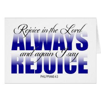Freuen Sie sich im Lord Always Karte