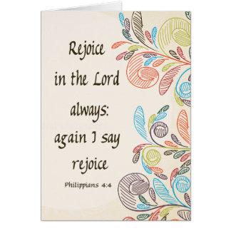 Freuen Sie sich im Lord Mitteilungskarten Karte