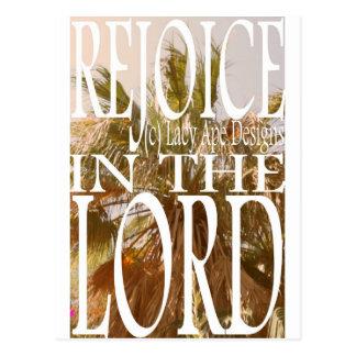 Freuen Sie sich im Lord Postkarte