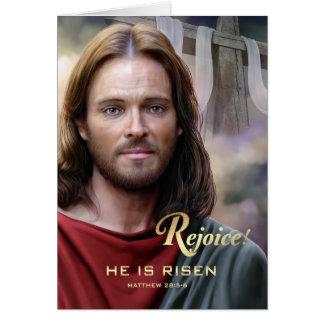 Freuen Sie sich. Jesus wird gestiegen. Karte