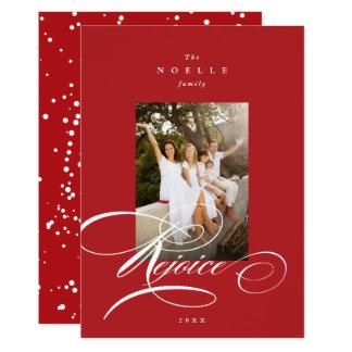 Freuen Sie sich Kalligraphie-religiöse 12,7 X 17,8 Cm Einladungskarte