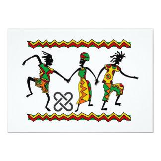 Freuen Sie sich Kwanzaa-Feiertags-Party 12,7 X 17,8 Cm Einladungskarte