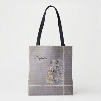 Freuen Sie sich Vintage Kunst-Druck-Taschen-Tasche Tasche