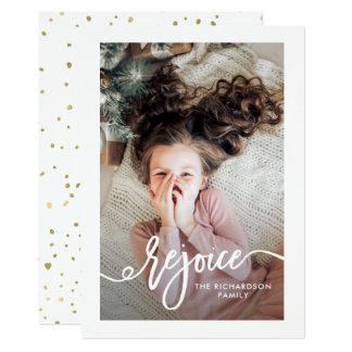 Freuen Sie sich   Weihnachtsskript mit Foto Karte