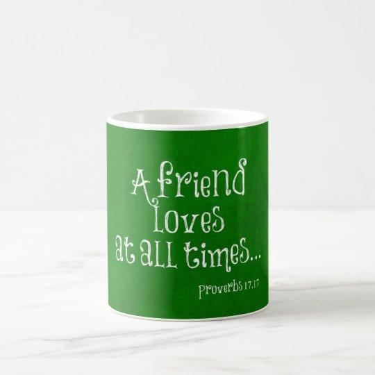 Freund-Bibel-Vers-Schrift Kaffeetasse