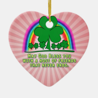FREUND-IRISCHER SEGEN KERAMIK Herz-Ornament