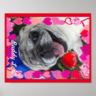 Freund-Liebe-Plakat Poster