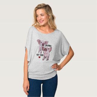 Freund-nicht Nahrungsmittelniedliches T-Shirt