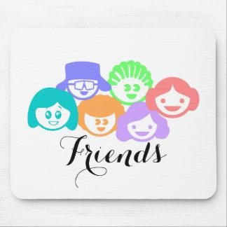 """""""Freunde"""" Freundschaft, Mausunterlage Mousepad"""