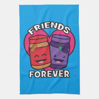 Freunde für immer - Erdnussbutter und Gelee Kawaii Handtuch
