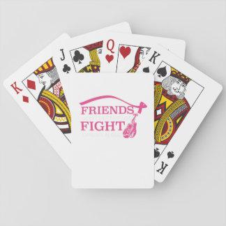 Freunde lassen nicht Freund-Kampf-Krebs allein Spielkarten