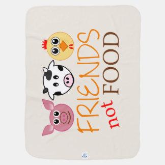 Freunde, nicht Nahrung Kinderwagendecke