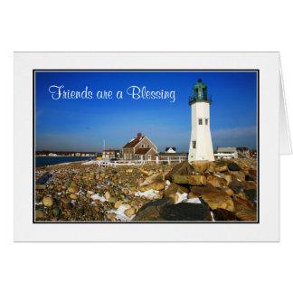 Freunde sind eine segnenCape Cod-Leuchtturm-Karte Karte