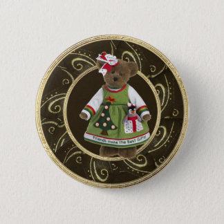 Freunde stellen den besten Geschenk-Teddybär-Knopf Runder Button 5,7 Cm