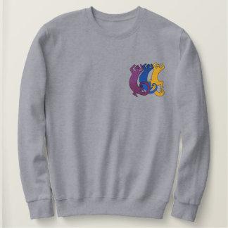 Freundes drei besticktes sweatshirt