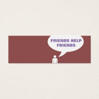 Freundhilfsfreund-Comic-Blasenempfehlung Mini Visitenkarte