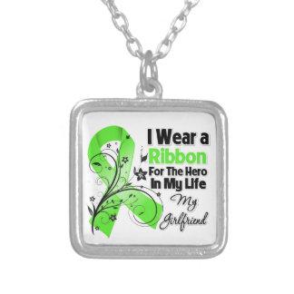 Freundin-Held in meinem Leben-Lymphom-Band Halskette Mit Quadratischem Anhänger