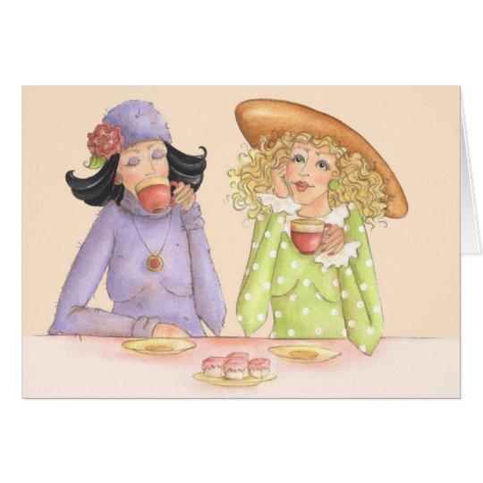 Freundinnen sind Schwestern - Gruß-Karte Grußkarte