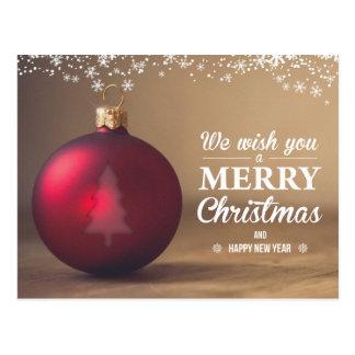 Freundlich entworfene Weihnachtspostkarte Postkarte