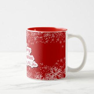 Freundlich entworfene WeihnachtsTasse Zweifarbige Tasse