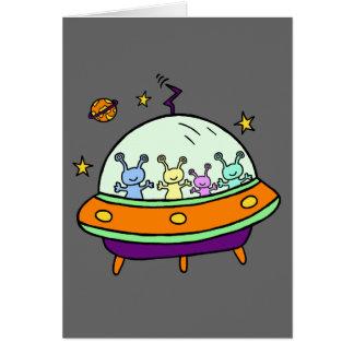 Freundliche Außerirdische Grußkarte