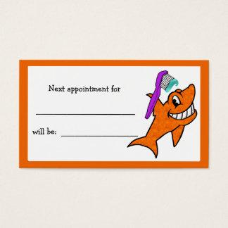 Freundliche der Haifisch-Verabredung des Visitenkarte
