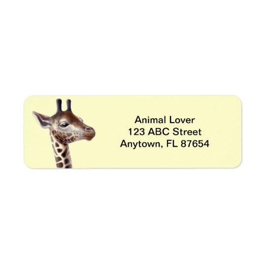 Freundliche Giraffe kundengerecht