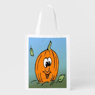 Freundliche niedliche Halloween-Kürbis-Jack O Wiederverwendbare Einkaufstasche