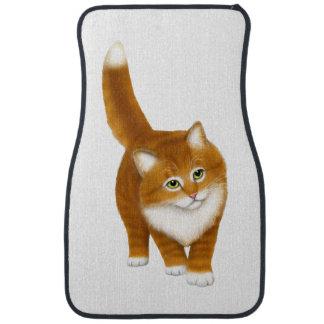 Freundliche orange Tabby-Katzen-Auto-Boden-Matten Auto Fussmatte