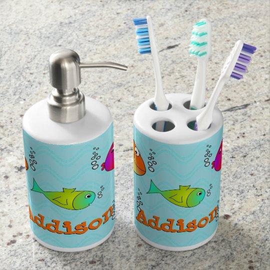 Freundliche Seegeschöpf-Kinder Zahnbürstenbehälter
