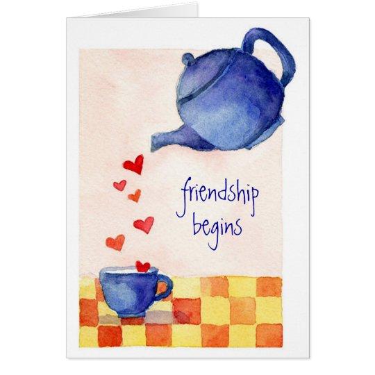 Freundschaft fängt - Gruß-Karte an Karte