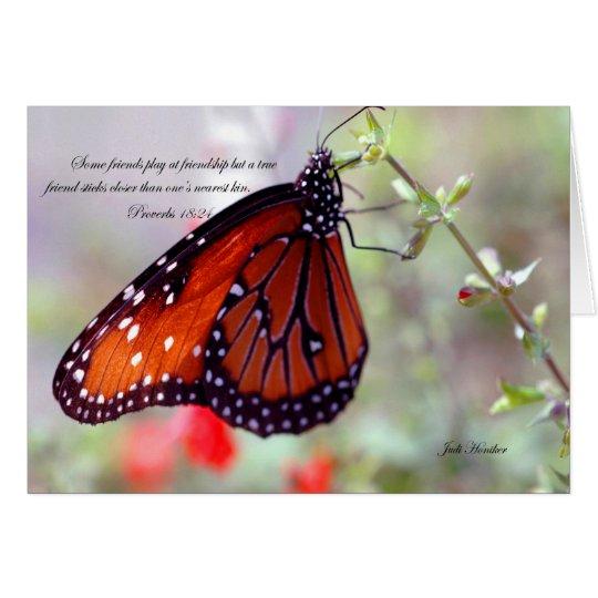 Freundschaft-Sprichwörter 18:24 Mitteilungskarte