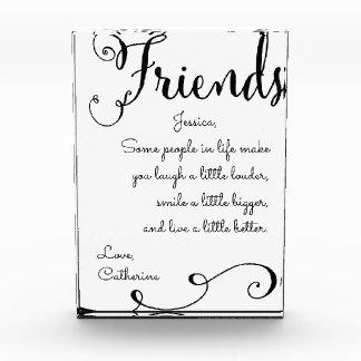 Freundschafts-Anerkennung Fotoblock