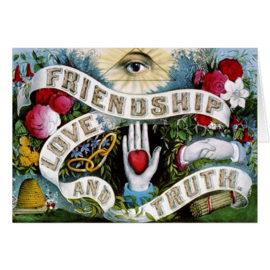 Freundschafts-Liebe und Wahrheit Grußkarte
