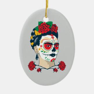 Frida Kahlo | El Día de Los Muertos Keramik Ornament
