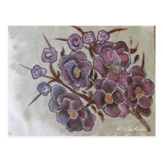 Frida Kahlo gemalte Blumen Postkarte