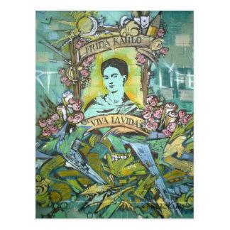 Frida Kahlo-Graffiti Postkarte