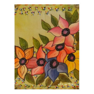 Frida Kahlo malte Flores Postkarte