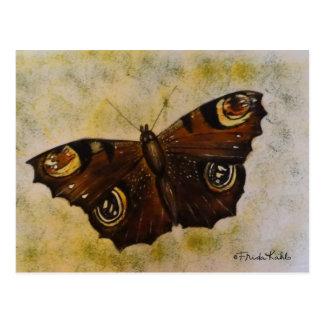 Frida Kahlo malte Schmetterling Postkarte
