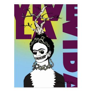 Frida Kahlo Pop-Kunst-Porträt Postkarte