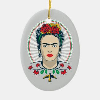 Frida Kahlo | Vintages Blumen Keramik Ornament